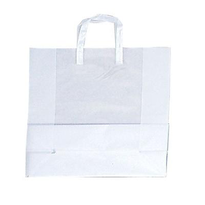 Shamrock Clear Shopping Bag, Tri-fold Handle with Cardboard Bottom, 17X7X18X7, 250/case pack