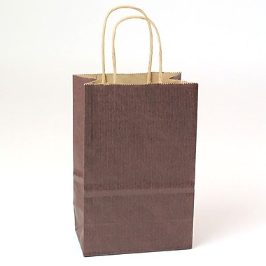 Shamrock Natural Tints with Shadow Stripe Paper Shopper, Toucan, Chocolate Brown