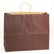 Shamrock Natural Tints with Shadow Stripe Paper Shopper, Jaguar, Chocolate Brown