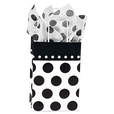 Shamrock Printed Paper Shopper, Domino Dots, Toucan