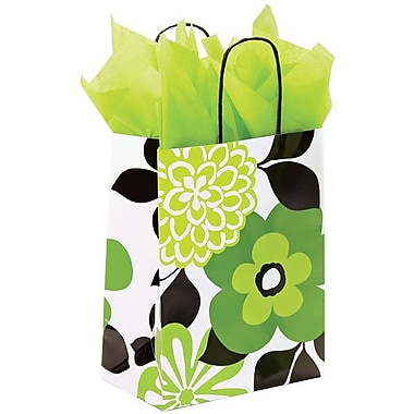 Shamrock Printed Paper Shopper, Bold Floral, Chimp