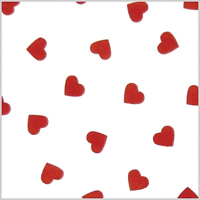 Shamrock Stock Printed Tissue, Contemporary Hearts, 240 sheets/pack
