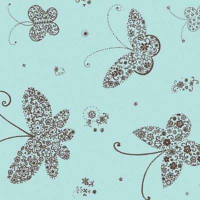 Shamrock Stock Printed Tissue, Butterflies, 240 sheets/pack