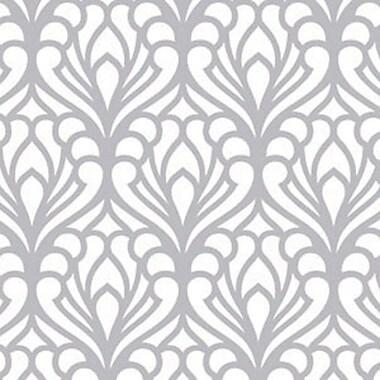Shamrock Printed Tissue, Silver Flourish