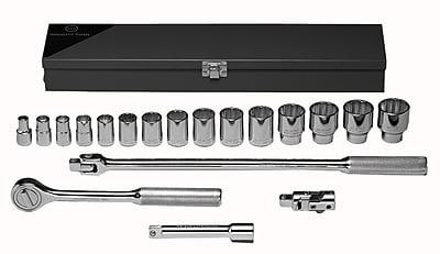 Wright Tool 19 Piece Standard Socket Set, 1/2