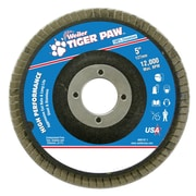 "Weiler® Tiger Paw™ 60 Grit Coated Abrasive Flap Disc With 7/8"" Arbor Hole, 5"""