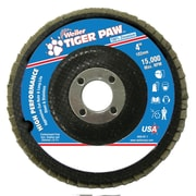 """Weiler® Tiger Paw™ 40 Grit Coated Abrasive Flap Disc, 4"""""""
