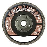 "Weiler® Tiger® 50669 Abrasive Flap Disc, 4 1/2"""