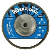 "Weiler® Tiger Disc 120 Grit Abrasive Flap Disc, 7"""