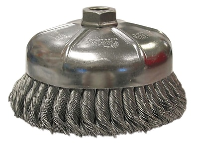 """""Weiler 1.375"""""""" General-Duty Knot Wire Cup Brush"""""" 1160969"