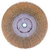 "Weiler® Trulock™ 6"" Narrow Face Crimped Wire Wheel Brush"