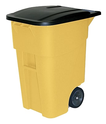 Rubbermaid® Brute® Rollout Container with Lid, 50 Gallon, Yellow