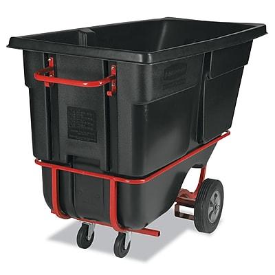 Rubbermaid® Forkliftable Tilt Truck, Black, 1 Cu. Yds.