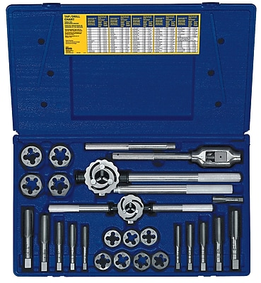 Irwin® Hanson® 25 Piece Metric Tap & Hex Die Set
