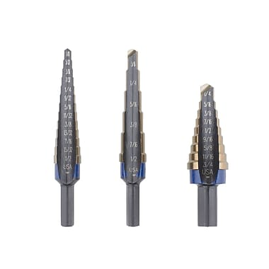 Irwin® Unibit® 3 Piece Cobalt Step Drill Set