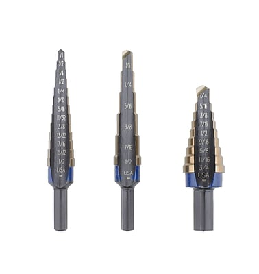 Irwin® Unibit® 3 Piece Cobalt Step Drill Set