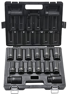 Blackhawk 14 Piece Deep Impact Socket Set, 3/4