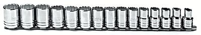 Proto® Torqueplus™ 15 Piece Metric Socket Set, 1/2