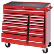 "Proto® 450HS 41"" 15 Drawers Work Station, Red"