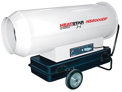 Heat Star 373-HS6000DF Portable Diesel Forced Air Direct-Fired Heater, 115 V