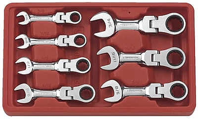 Gearwrench 7 Piece Stubby Flex Combination Ratcheting Wrench Set 1161619