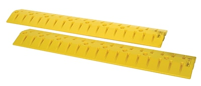 EAGLE 9' Polyethylene Speed Bump-Cable Guard, Yellow