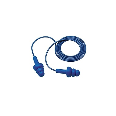 3M™ E-A-R™ UltraFit™ Detectable Corded Earplug, Blue, NRR 25 dB