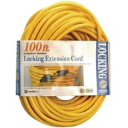 Coleman® SJTW Twist Lock Extension Cord, 12/3 AWG, 100'