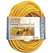Coleman SJTW Twist Lock Extension Cord, 12/3 AWG, 100'
