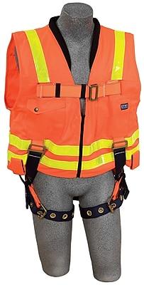 DBI/Sala® Work Vest Harness, Hi-Viz Orange, Universal