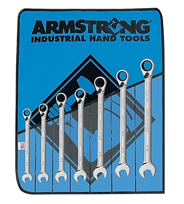 Armstrong® Tools 7 Piece 12 Point Reversible Ratcheting Combination Wrench Set