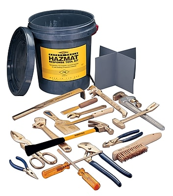 Ampco® Safety Tools 17 Piece Hazmat Tool Kits