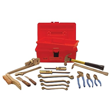 Ampco® Safety Tools 16 Piece Tool Kits With Tray Box