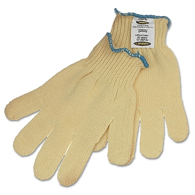 Ansell® GoldKnit® DuPont™ Kevlar Heavy Weight Cut Resistant Gloves, Yellow, Size 7