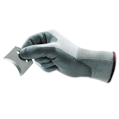 Ansell® Hyflex® Polyethylene Light Cut Protection Gloves, Gray/White, Size 7