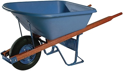 Jackson Professional Tools 6 cu. ft. Contractors Wheelbarrow With Flat Free Tire 1161780