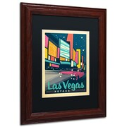"Trademark Anderson Black Matte W/Wood Frame ""Las Vegas, Nevada"" Arts"