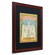 "Trademark Anderson ""Washington, DC"" Art, Black Matte W/Wood Frame, 16"" x 20"""