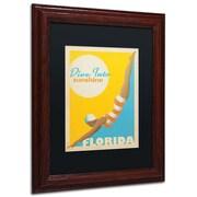 "Trademark Anderson Black Matte W/Wood Frame ""Dive into Sunshine II"" Arts"