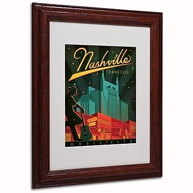 Trademark Anderson White Matte W/Wood Frame