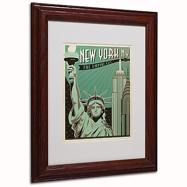 Trademark Anderson White Matte W/Wood Frame