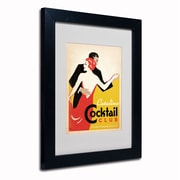 "Trademark Anderson ""Catalina Cocktail Club"" Paper Art, White Matte W/Black Frame, 11"" x 14"""