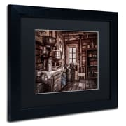 "Trademark Erik Brede ""Old Farm House"" Art, Black Matte W/Black Frame, 11"" x 14"""