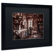 "Trademark Erik Brede ""Old Farm House"" Art, Black Matte W/Black Frame, 16"" x 20"""