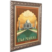 "Trademark Anderson ""Taj Mahal"" Ornate Framed Arts"