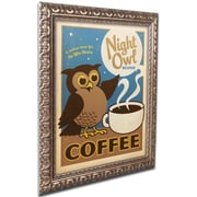 "Trademark Anderson ""Night Owl Blend Coffee"" Ornate Framed Arts"