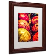 "Trademark Erik Brede ""Balls"" Art, White Matte W/Wood Frame, 11"" x 14"""