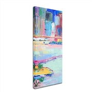 "Trademark Richard Wallich ""Brooklyn"" Multi Panel Art Set Part 3, 8"" x 24"""