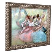 """Trademark Edgar Degas """"Four Ballerinas on the Stage"""" Ornate Framed Arts"""