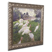 "Trademark Claude Monet ""The Turkeys at the Chateau"" Ornate Framed Art, Gold Ornate Frame, 11"" x 11"""